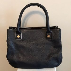 Talbots navy pebbled leather purse.